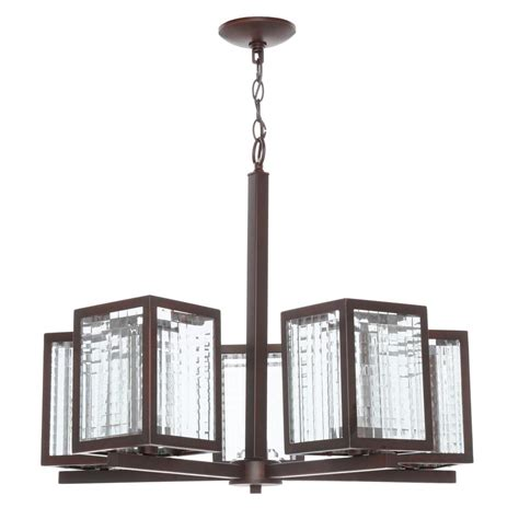 Glass Shades For Chandeliers Home Decorators Collection 5 Light Rubbed Bronze