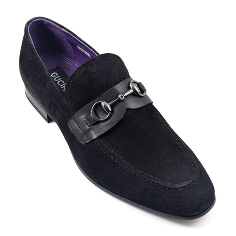 black suede loafers buy mens black suede buckle loafer gucinari