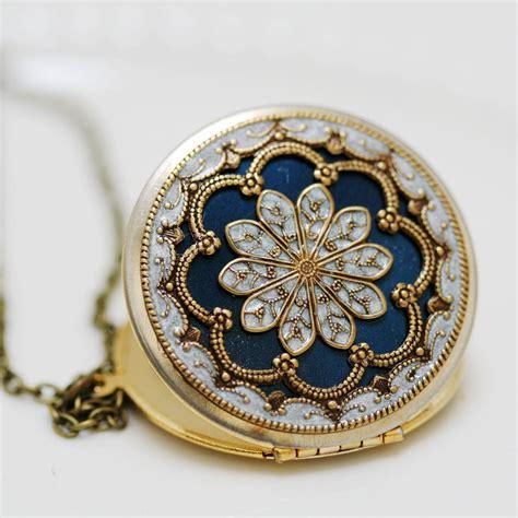 locket jewelry necklace pendant blue locket filigree