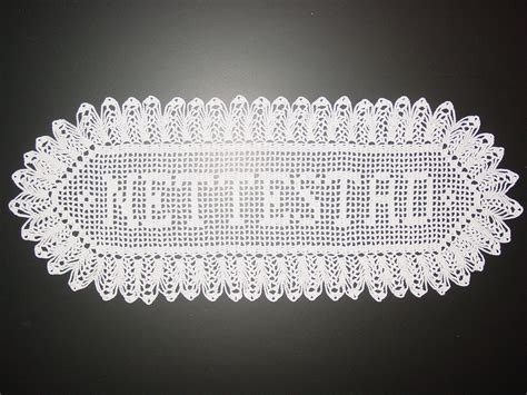 pattern for crochet name doilies name doily personalized