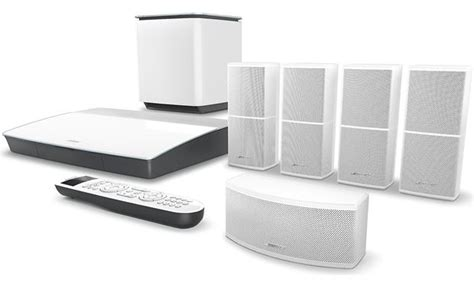 bose 174 lifestyle 174 600 home theater system white at