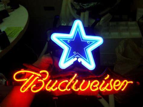 dallas cowboys bud light nfl dallas cowboys budweiser bud light football neon light