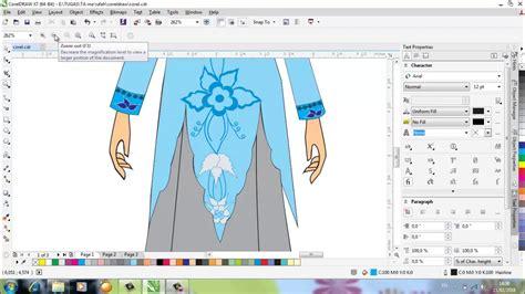 desain baju dengan corel draw x7 desain baju kebaya muslimah menggunakan aplikasi coreldraw