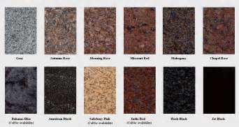 granite color names muskogee marble and granite
