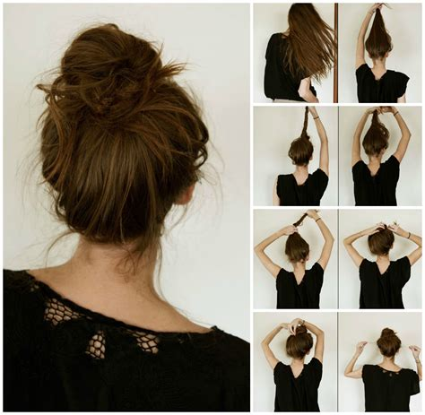 easy to make bun hairstyles easy step by step hairstyles do by own at any time