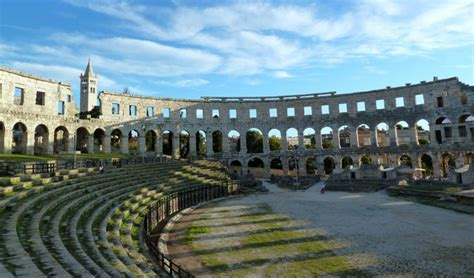 cing pula pula arena exceptional roman hitheater in croatia
