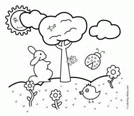free printable spring coloring pages kids coloring page