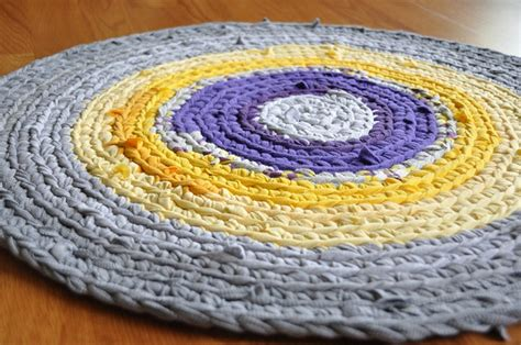 purple and yellow rug purple yellow gray crochet rug sewing and crafting