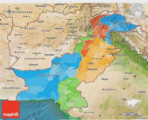 pakistan map satellite pakistan satelliten karte