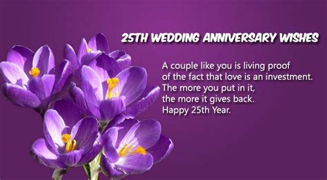 25th Wedding Anniversary Wishes For by 25th Wedding Anniversary Wishes For And Www