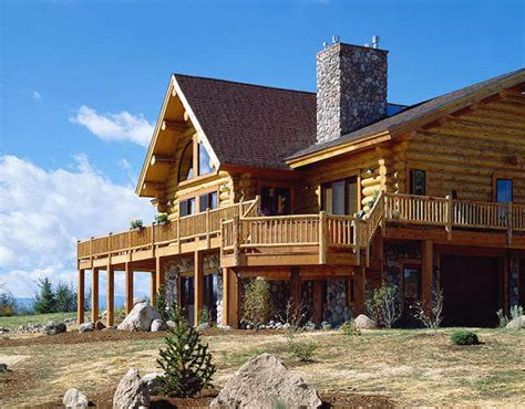log home floor plans montana log homes floor plan 034