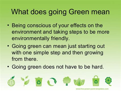 in the green meaning go green presentation by chetan at s