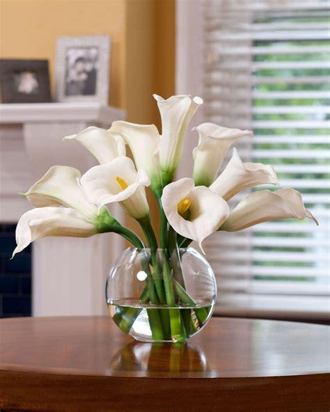 calla silk flower centerpiece calla