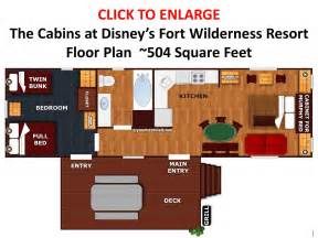 disney s the cabins at fort wilderness floor plan from