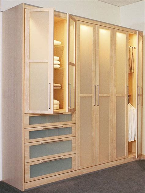 Closet Systems With Doors Contemporary Wardrobe With Frosted Closet Doors