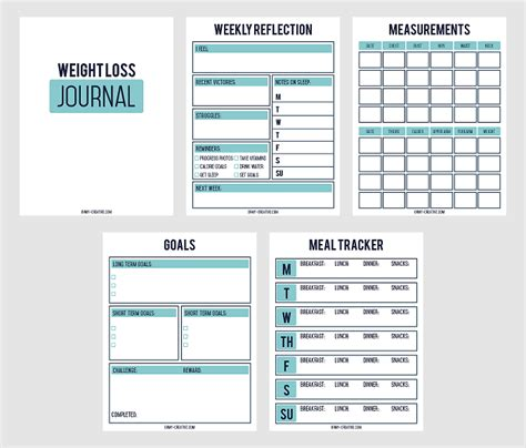 printable food journal weight loss printable weight loss chart and journal for weight loss
