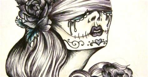 flash tattoo for hair long hair tattoo flash google search art sugar skull