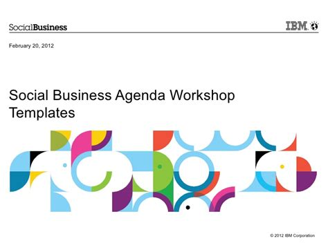 Ibm Social Business Agenda Template Ibm Powerpoint Template