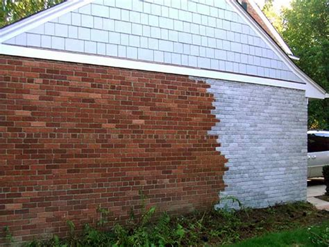 how to spray paint brick walls