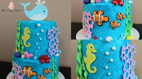 Under The Sea Cake Tutorial!   YouTube