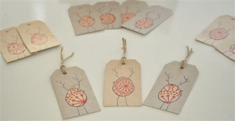 diy reinbird christmas gift tags claire  creations