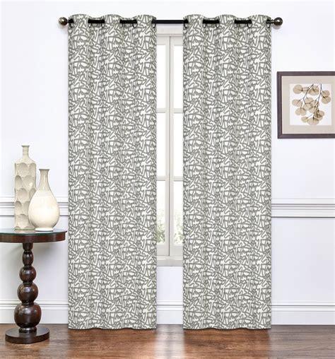 annette curtain pair of annette chocolate window curtain panels w grommets 96 quot