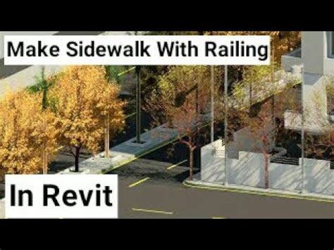 revit road tutorial how to create sidewalk and road stripes in revit