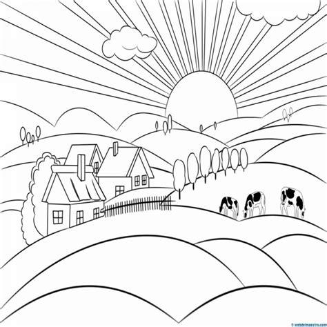 imagenes para dibujar un paisaje paisajes para pintar web del maestro colorear website