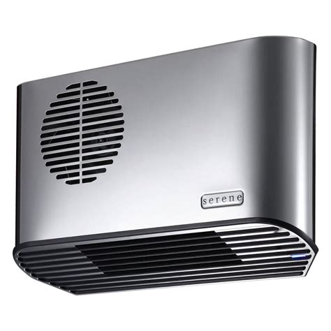 bathroom fan heater serene all metal 24kw polished chrome