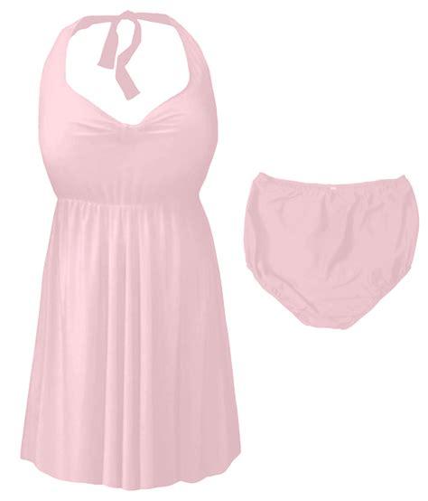 light pink plus size dress light pink plus size supersize halter 2pc swimdress 0x