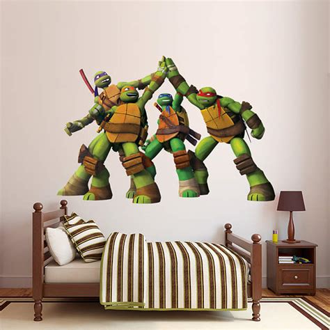 tmnt high five wall decal shop fathead 174 for