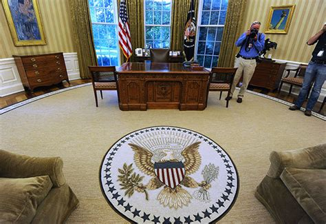 trump oval office rug donald trump won t work from oval office because obama put