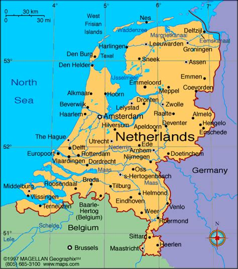 netherlands map map map of netherlands nederland cities pictures