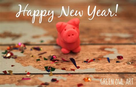 new year tradition for luck green owl german lucky pig new year tradition