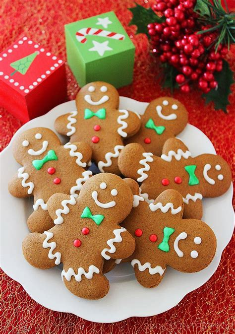 Snack Natal chewy gingerbread cookies happy new year