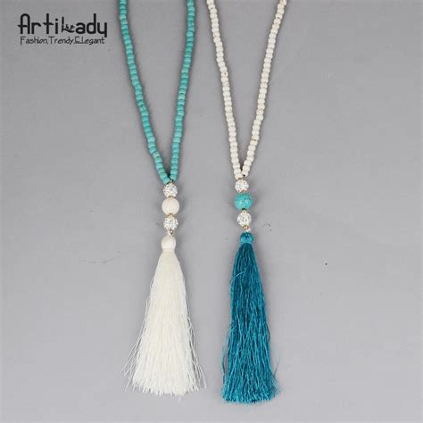tassels for jewelry aliexpress buy artilady turquoise necklace