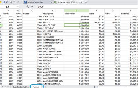 layout xml sat generar xml cuentas balanza sat de layout excel