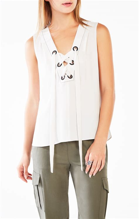 marcia lace up tank top