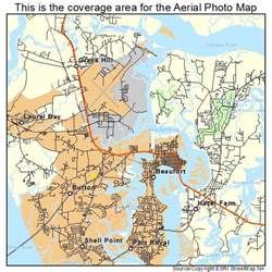 aerial photography map of beaufort sc south carolina