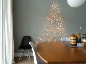 Wall christmas tree made of lights shelterness