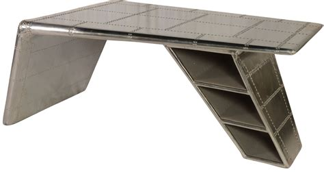 used aviator wing desk for sale lindbergh leather bomber aluminum wing desk from lazzaro