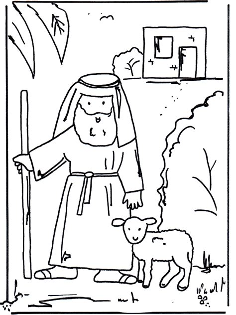 bible coloring pages new testament the good shepherd 1