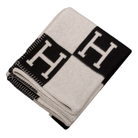 the hermes avalon blanket hermes quot avalon quot ecru and black signature h blanket world
