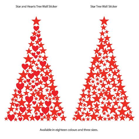 stars and hearts christmas tree wall sticker by the bright