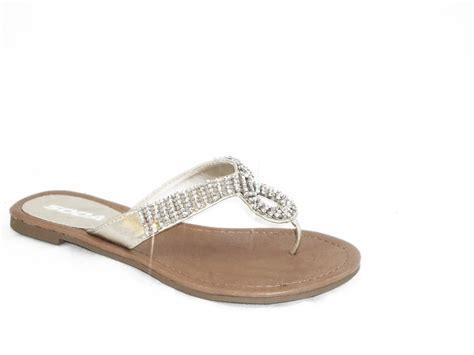 white rhinestone sandals white sandals with rhinestones 28 images evening wedge
