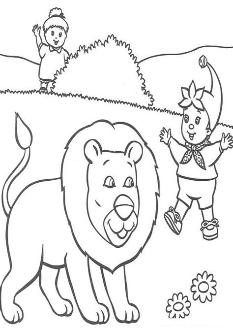 noddy coloring pages coloringpages1001 com