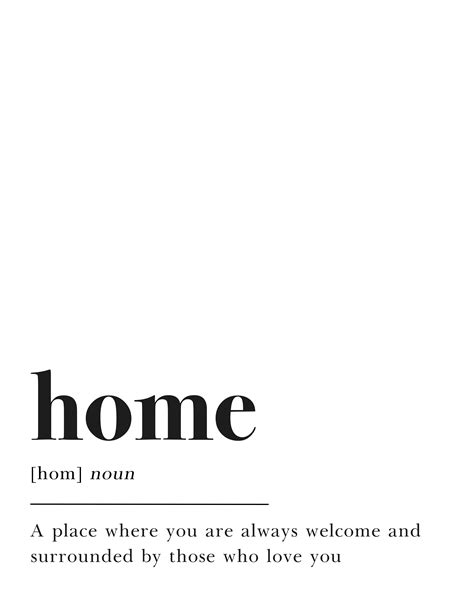 home design definition home footnote printable wall home decor print