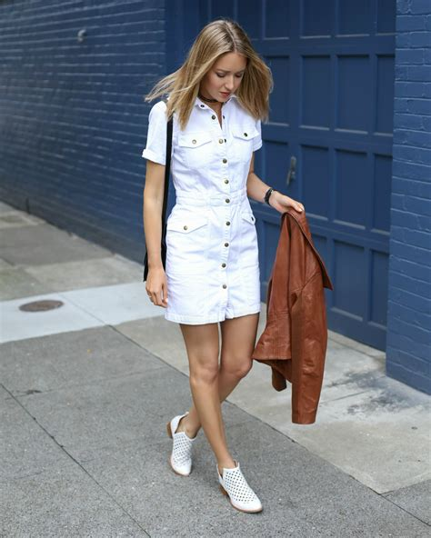 Dress Ebuty Denim saturday style white denim dress memorandum nyc