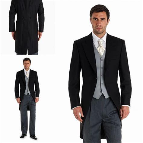 Custom 2015 Black Morning Suits Wedding Tuxedos Best