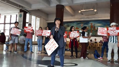 Up Diliman Mba Tuition Fee 2017 by Students Enraged At Retraction Of Free Tuition Policy In